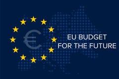 Bilancio di UE per il futuro illustrazione di stock