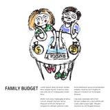 Bilancio familiare simili 2 illustrazione di stock