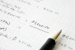 Bilans financiers d'affaires - budget calculateur Image libre de droits