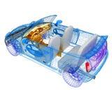 bilar för 3d 3ds gjorde den max modellen Arkivbild
