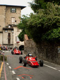 Bilar för formel 2 på Bergamo den historiska granda prixen 2015 Arkivbild