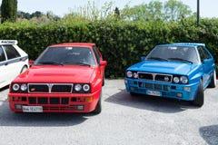 Bilar för integral för Lancia deltaHF Royaltyfria Bilder