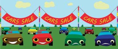 Bilar försäljning, vektor fotografering för bildbyråer