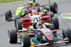 Bilar F2 på det Monza spåret - Ferrari utmaning April 2015 Royaltyfri Fotografi