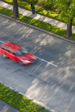 bilar fast den moving vägen Arkivbilder