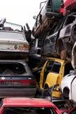 Bilar i skrot Royaltyfri Foto