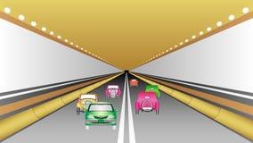 Bilar i tunnel lager videofilmer