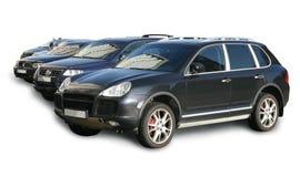 Bilar på att parkera det isoleras Arkivfoto