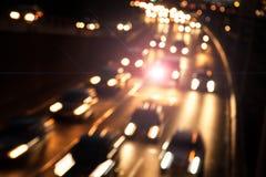 Bilar på huvudvägen Fotografering för Bildbyråer
