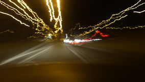 Bilar på natten Arkivfoto