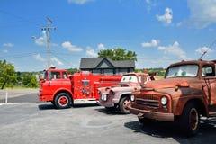 Bilar på rutten i Galena, Kansas royaltyfri bild