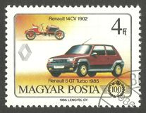 Bilar Renault 14CV Royaltyfria Foton