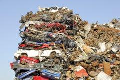 bilar som återanvänder srap royaltyfri foto