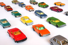 bilar ställde upp Arkivfoto