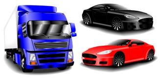 bilar ställde in vektorn Arkivbild