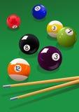 bilardowa piłki wskazówka ilustracji
