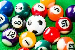 Bilardowe piłki Zdjęcie Stock