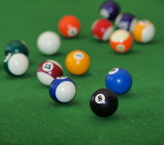 Bilardowe piłki Fotografia Stock