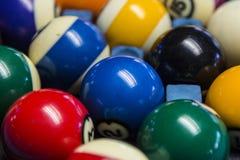 Bilardowe piłki Przygotowywać dla sztuki Zdjęcie Stock
