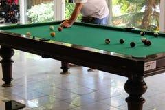 Bilardowy stół w Kleopatra plaży Hotelowy Alanya, Turcja Fotografia Stock