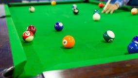 bilardowych billiards świetlicowa gemowa scena Obraz Royalty Free
