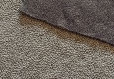 Bilateral beige and brown polar fleece fabric texture close up Stock Photography