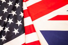 Bilateral relations of the United States and Great Britain. Two. Of the flag States to develop Royalty Free Stock Photos