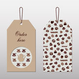 Bilateral tags for tea. royalty free illustration