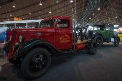 Bilbärgningsbil som baseras på Ford Model BB, 1935 Arkivfoto