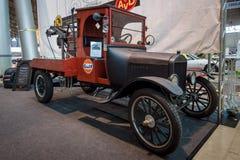 Bilbärgningsbil som baseras på Ford Model TT, 1924 Arkivfoton