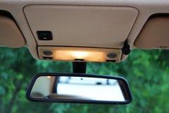 Bilbackspegel med ljus Fotografering för Bildbyråer