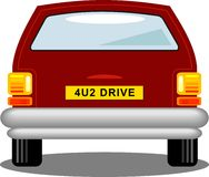bilbaksida stock illustrationer