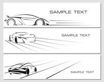 Bilbaneruppsättning Arkivfoto