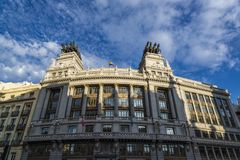 Bilbao bank Building, Madrid, Spain stock photography