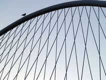 Bilbao bridge. With bird royalty free stock photos