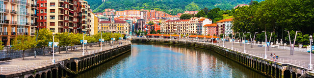 Bilbao city downtown with a River Royalty Free Stock Image