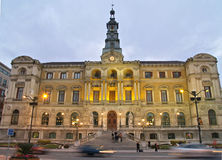 Bilbao City Town-hall. At sunset Royalty Free Stock Photo
