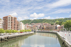 Bilbao cityscape and Nerbion river, Bizkaia, Basqu Stock Photos