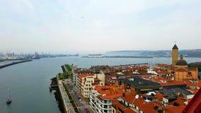 Bilbao en de Golf van Biskaje stock foto