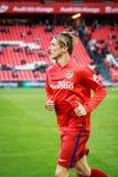 BILBAO, ESPAÑA - 20 DE ABRIL: Fernando Torres antes de que el partido entre el Athletic de Bilbao y Athletico de Madrid, celebrad Imágenes de archivo libres de regalías