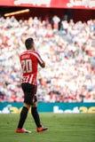 BILBAO, ESPAÑA - 18 DE SEPTIEMBRE: Aritz Aduriz, jugador atlético de Bilbao del club, en el partido entre el Athletic de Bilbao y Foto de archivo libre de regalías