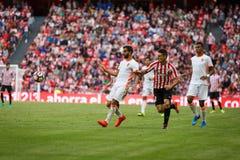 BILBAO, ESPAÑA - 18 DE SEPTIEMBRE: Aritz Aduriz, jugador del Athletic de Bilbao, en el partido entre el Athletic de Bilbao y el V Fotos de archivo libres de regalías