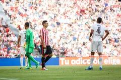 BILBAO, ESPAÑA - 18 DE SEPTIEMBRE: Aritz Aduriz, jugador del Athletic de Bilbao, en el partido entre el Athletic de Bilbao y el V Imágenes de archivo libres de regalías