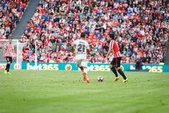 BILBAO, ESPAÑA - 18 DE SEPTIEMBRE: Benat Etxebarria, jugador del Athletic de Bilbao, en el partido entre el Athletic de Bilbao y  Imágenes de archivo libres de regalías