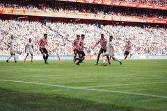 BILBAO, ESPAÑA - 18 DE SEPTIEMBRE: Eneko Boveda, jugador de Bilbao, durante un partido de liga español entre el Athletic de Bilba Fotografía de archivo libre de regalías