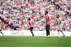 BILBAO, ESPAÑA - 18 DE SEPTIEMBRE: Raul Garcia, jugador atlético de Bilbao del club, en el partido entre el Athletic de Bilbao y  Fotografía de archivo libre de regalías