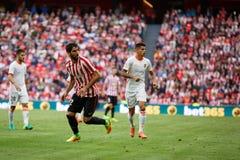 BILBAO, ESPAÑA - 18 DE SEPTIEMBRE: Raul Garcia, jugador atlético de Bilbao del club, en el partido entre el Athletic de Bilbao y  Fotos de archivo libres de regalías