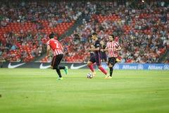 BILBAO, ESPAGNE - 28 AOÛT : Denis Suarez, joueur de FC Barcelona, dans l'action pendant un match de ligue espagnol entre l'Athlet Image libre de droits
