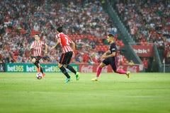 BILBAO, ESPAGNE - 28 AOÛT : Denis Suarez, joueur de FC Barcelona, dans l'action pendant un match de ligue espagnol entre l'Athlet Photographie stock libre de droits