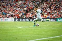 BILBAO, ESPAGNE - 28 AOÛT : Gorka Iraizoz, gardien de but sportif de Bilbao de club, pendant la correspondance entre l'Athletic B Images libres de droits